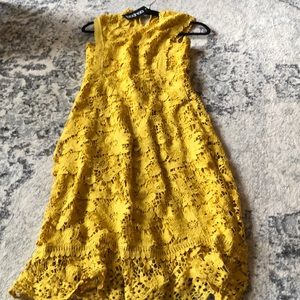 MUSTARD LACE DRESS FROM ASOS by boohoo